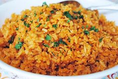 Simple Mexican-style Rice. ☀CQ #party #appetizers