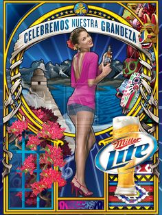 Miller Lite - Central America Poster by echo-x.deviantart.com on @deviantART