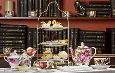 High tea in the Library Bar, the Fairmont Royal York Hotel.