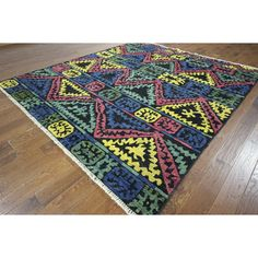 Manhattan H8818 Hand-knotted South Western Design Kaitag Area Rug