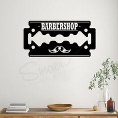 Ideal pentru a crea un decor deosebit. Utilizati acest sticker pentru a crea un decor prin care evidentiati serviciile oferite. Stickerul decorativ de perete Barber Shop este potrivit pentru decorarea a unui salon de infrumusetare, sau a locuintei, dar si a unui birou. Cu acest autocolant adeziv de perete puteti impresiona pe toti cei ce ajung la dumneavoastra. #stickerbarbershop #decorbarbershop #decorfrizerie #decorperetesalon #salondefrizerie #barber #gentlemanbarbvershop… Barber Shop, Stickers, Home Decor, Decoration Home, Room Decor, Barbers, Barbershop, Home Interior Design, Home Decoration