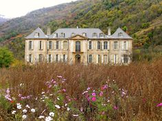 """vogue:"""" Karina Waters, along with her husband, Craig, have been renovating the Château de Gudanes—a Class 1 Historical Monument in the village of Château-Verdun in southwest France—since Karina shares her progress as the team preps for. Beautiful Buildings, Beautiful Homes, House Beautiful, Chateau De Gudanes, Man Cave Garage, Historical Monuments, French Chateau, French Countryside, Interior Exterior"""