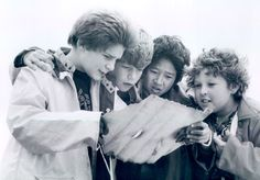 "Astoria, OR June 2015 event. From left, Corey Feldman, Sean Astin, Ke Huy Quan and Jeff B. Cohen play young adventurers in ""Goonies.' (Warner Bros Inc.)"