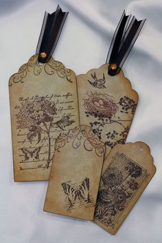 Vintage Style Tags ~ Nature