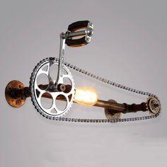 Vintage Industrial Retro Metal Water Pipe Wall Lamp Steampunk