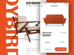 I recently came across Joybird Furniture and fell in love with it's homage to mid century modern furniture design. Here's my quick stab at how I would reimagine the look and feel of the brand. Pr...