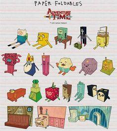Papercraft - Adventure Time!! - Papercraft4u | Free Papercrafts, Paper Toys, Paper Models, Gratis