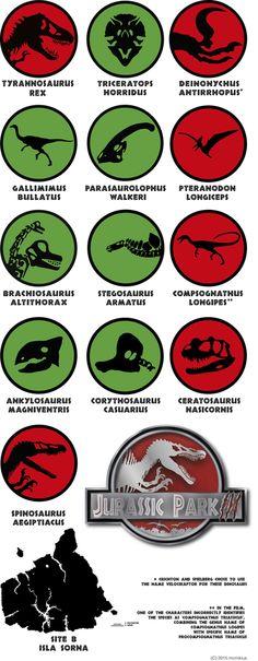 the Logo's dinosaurs from Jurassic Park 3 movie. #dinosaurs, #jurassicpark3, #logo, #logos, #movie, #jurassicpark, #island, #sorna, #name