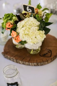 hand made wood coasters for reception table centerpieces