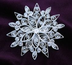 quilled snowflake pin/brooch by RiverZend