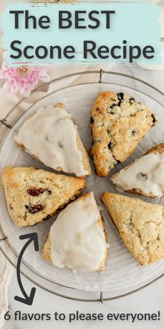 The BEST Scone Recipe - Cakes - Scones are a perfect baked treat! Whether you add fruit, chocolate or cover them in a delicious gla - Easy No Bake Desserts, Homemade Desserts, No Bake Treats, Dessert Recipes, Homemade Recipe, Recipe Recipe, Easter Recipes, Best Scone Recipe, Cupcake Cakes