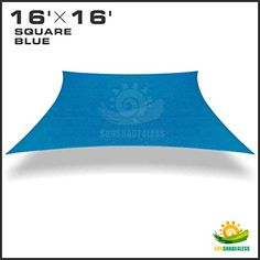 Special Offers - 16 X 16 Sun Shade Sail Uv Top Outdoor Canopy Patio Lawn Square Blue - In stock & Free Shipping. You can save more money! Check It (October 26 2016 at 11:53AM) >> http://gardenbenchusa.net/16-x-16-sun-shade-sail-uv-top-outdoor-canopy-patio-lawn-square-blue/