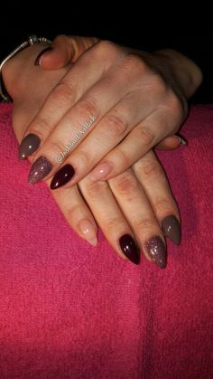 Instagram @instituut.nalliah Facebook @Instituut.Nalliah  Nude to dark brown colors from Florance Nails Stilleto nails in all different colors