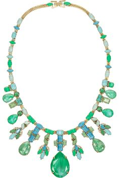 Erickson Beamon | Aerin gold-plated Swarovski crystal necklace | NET-A-PORTER.COM