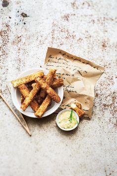 Les frites de purée de pommes de terre