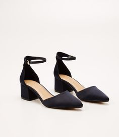 Primary Image of Satin Ankle Strap Heels