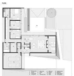 Gallery - House with ZERO Stairs / Przemek Kaczkowski + Ola Targonska - 14 - House Plans, Home Plan Designs, Floor Plans and Blueprints Home Design Floor Plans, Plan Design, House Floor Plans, Modern House Plans, Small House Plans, The Plan, How To Plan, Single Level Floor Plans, Small Modern Bedroom