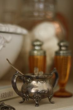 Pewter Sugar Bowl / One spoonful or two?