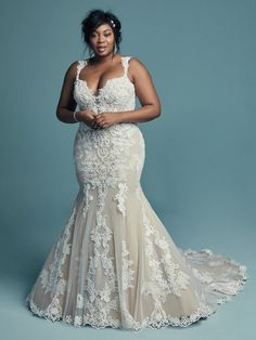 Lace wedding dress - Abbie by Maggie Sottero. See more Maggie Sottero Wedding Dresses on WeddingWire! Maggie Sottero Wedding Dresses, Lace Wedding Dress, Fit And Flare Wedding Dress, Best Wedding Dresses, Perfect Wedding Dress, Hourglass Wedding Dress, Flattering Wedding Dress, Dream Wedding, Fall Wedding