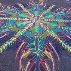 Joe Mangrum Sand Mandalas  in  Union Square Park North Pavilion 7/17/14