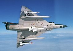 The classic delta winged Mirage IIIO was well armed with Sidewinders and a medium range Matra air-to-air missile along with twin DEFA cannons (Photo Source: RAAF)