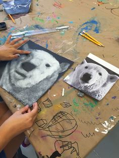 Black & White Chalk Pastel Drawing | www.smallhandsbigart.com