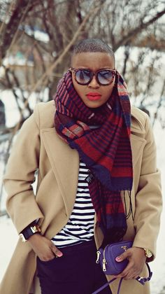 camel coat & red lips + that awesome scarf