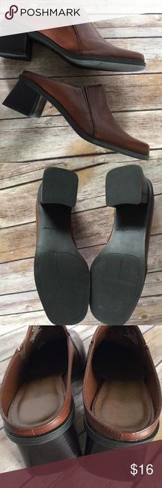 15c925930 Naturalizer Quaint Tan Leather 8M Clog shoes Naturalizer 8M Nice condition.  Comes in box.