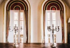 Luxury interiors such as a 17th century florentine table and this two big silver candelabra. #wedding #venue #sicily #elegance #italy #villalalimonaia