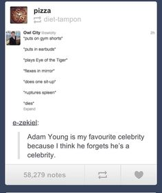 Adam young from Owl City is great tbh