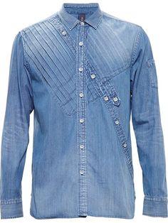 bd8b069507 Купить Mihara Yasuhiro джинсовая рубашка в Browns from the world s best  independent boutiques at farfetch. Denim Shirt ...