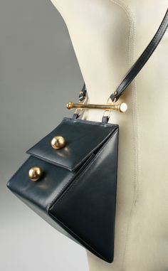 Vintage and Designer Shoulder Bags - For Sale at : Architectural Triangle Shoulder Bag image 2 Cheap Purses, Cheap Handbags, Cute Purses, Purses And Handbags, Leather Handbags, Cheap Bags, Handbags Online, Trendy Purses, Gucci Purses