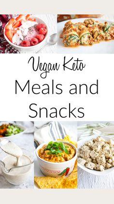 Vegan Keto Diet, Vegan Keto Recipes, Healthy Low Carb Recipes, Vegetarian Keto, Keto Foods, Vegan Snacks, Vegan Dinners, Diet Recipes, Snack Recipes