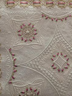 First Place MQT ribbon. Quilt was made by Margaret West using Jenny Haskins' designs. Karen McTavish quilted it. Wow!