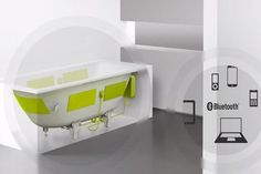Kaldewei's Sound Wave System Immerses You in Your Favorite Music #bathtubs trendhunter.com