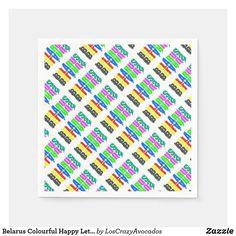 Belarus Colourful Happy Letters Napkins