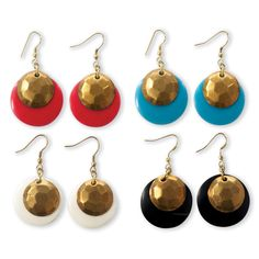 Circle Earrings A/4 Colors © Twos Company