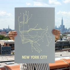 NYC Screen Print Steel Blue now featured on Fab.