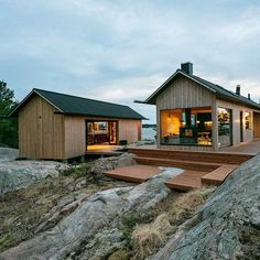 A minimalist off-grid coastal home away from home that holiday dreams are made of. Meet Project-Ö by a self… Tiny House Cabin, Tiny House Design, Modern Architecture House, Architecture Design, Island Design, Coastal Homes, Cabana, Cladding, Villa