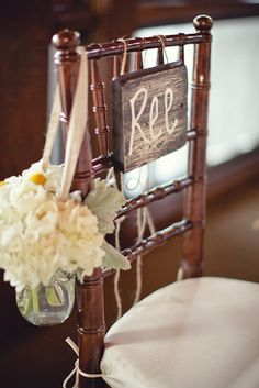 Burlap and Lace ~ Bride & Groom chairs