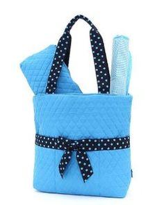 Belvah Quilted 3pc Set Large Diaper Bag (Blue  Navy), 29.95 Trendy Handbags 7939006bc6