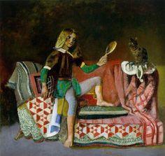 Cat with Mirror - Le Chat au miroir by Balthus (Balthasar Klossowski de Rola) (Polish/French 1908-2001)