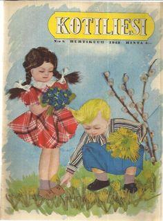 Kotiliesi Magazine (Finland) 8/1942 (Cover art: Doris Bengt Ström)