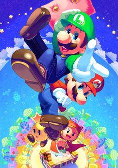 Mario And Luigi, Mario Bros, My Works, Nostalgia, Twitter, Fictional Characters