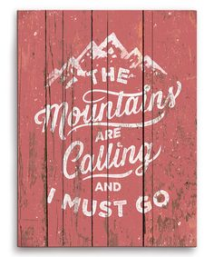 Look what I found on #zulily! 'The Mountains Are Calling' Wall Art by Image Canvas #zulilyfinds