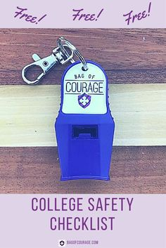 Free College Safety Checklist. Join the Movement - Be Brave. Be Prepared - College safety, college safety kit, college safety tips, college life, college tips