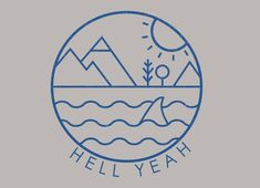 Check out the design Hell Yeah by Farnell available on Womens Triblend Tee on Threadless Delicate Tattoo, Subtle Tattoos, Logo Montagne, Redwood Tattoo, Minimalist Tattoo Meaning, Minimalist Tattoos, Sea Logo, Paris Tattoo, French Tattoo