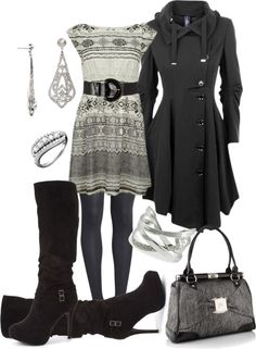 """""""Grey and Black"""" by stay-at-home-mom on Polyvore"""