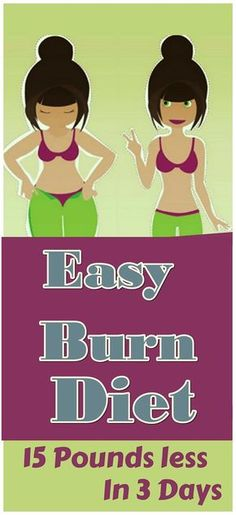 Easy Burn Diet:15 Pounds Less In 3 Days