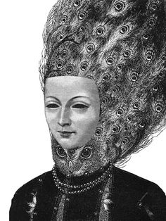 Dan Hillier.... Queen, from his Feather & Claw series of way oversized amazing collage-ish prints.